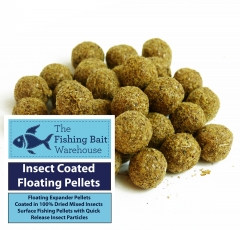 11mm insect coated floating pellets